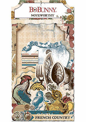 Provence BoBunny Noteworthy Die Cut Cardstock 44 Piece Pack