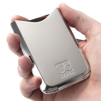 NEW Men's Raw Polished Silver Obtainium Wallet