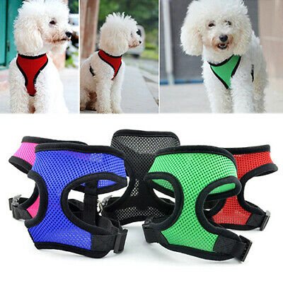 Pet Cat Puppy Dog Harness Soft Mesh Vest Walk Collar Safety Leash Strap Tempting