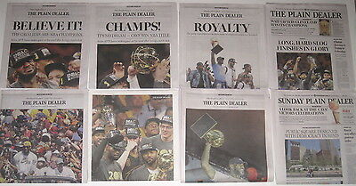 Cleveland Plain Dealer Cavaliers Cavs 2016 Nba Championship Edition 8 Newspapers