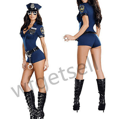 Woman Cop Uniform Hen Night Fancy Dress Outfit Officer B Naughty Police Costume
