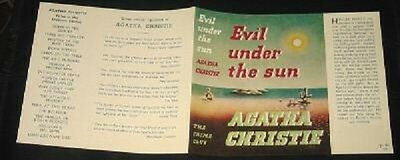 EVIL UNDER THE SUN - 1941 by Agatha Christie - Facsimile Dustjacket Only