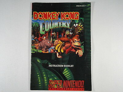 ¤ Donkey Kong Country ¤ (MANUAL ONLY) Good! Super Nintendo SNES