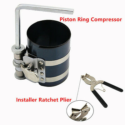 New Piston Ring Compressor Installer Ratchet Plier Remover Expander Engine Tool