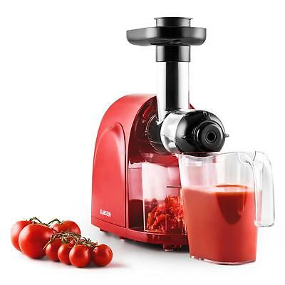 150W Pro Electric Slow Juicer 80 Rpm Vegetable Fruit Large Feed Tube Red