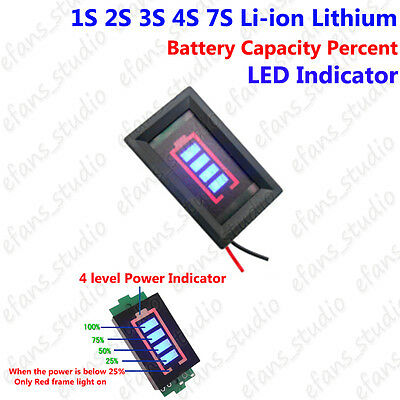 1S 2S 3S 4S 7S Lithium Li-ion Battery Capacity Guage Level LED Indicator Display