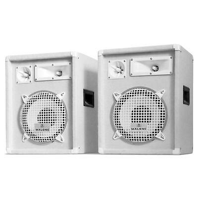 "Auna 800W Pa Speakers 10"" Bass Drivers Pair Karaoke Disco Party Dj Loudspeaker"