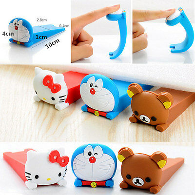 Cartoon Door Stop Stopper Wedge Protection Finger Safety Home Baby Kid Doorstop