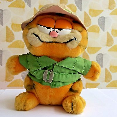 Retro 1981 Explorer Garfield Soft Toy collectible 80s