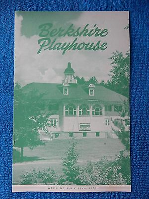 The Marquise - Berkshire Playhouse Theatre Playbill - July 20th, 1953