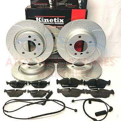 FOR BMW E46 320d 320 325 328 FRONT REAR DIMPLED GROOVED BRAKE DISCS BREMBO PADS
