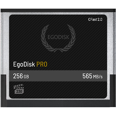 EgoDisk Pro 256GB Cfast 2.0 Card CompactFlash for BlackMagic URSA 4.6K & Canon