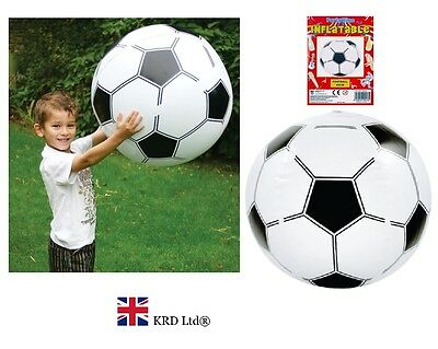 INFLATABLE FOOTBALL Blow Up Fancy Dress Sports Soccer Boys Beach Ball Party 40cm