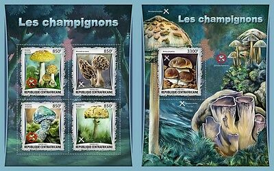 Z08 IMPERFORATED CA17010ab CENTRAL AFRICAN REP 2017 Mushrooms MNH ** Postfrisch