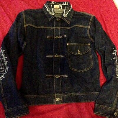 Authentic Lee sanforized shrunk sashiko stitched union made denim jacket size 40