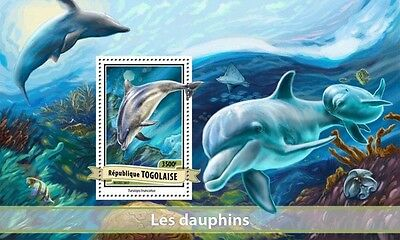 Z08 IMPERFORATED TG17104b TOGO 2017 Dolphins MNH ** Postfrisch