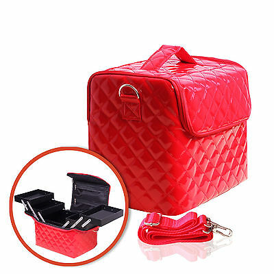 Case for cosmetics and accessories - red quilted - SILCARE