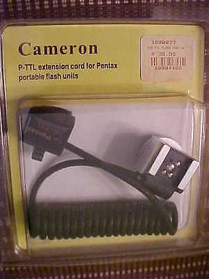 Pentax-Cameron P-TTL extension cord for Pentax Portable Flash Units