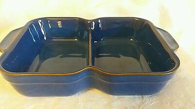 Denby Imperial Blue Divided serving dish 12.25 inches