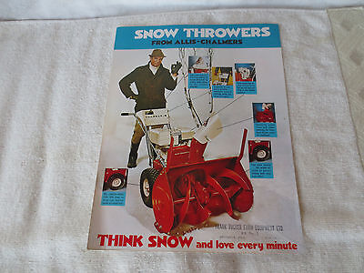 Vintage Allis Chalmers Snow Throwers Advertising Sales Literature Brochure