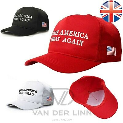 *UK Seller* Donald Trump MAKE AMERICA GREAT AGAIN Cap Hat Embroidered 3 Colours