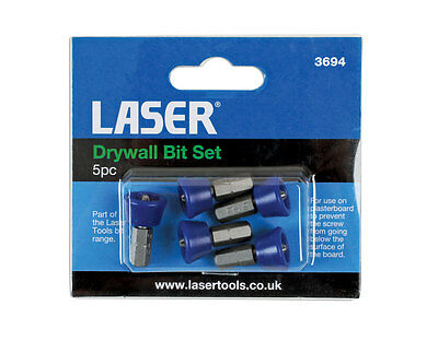Laser 3694 5pc Drywall Bit Set