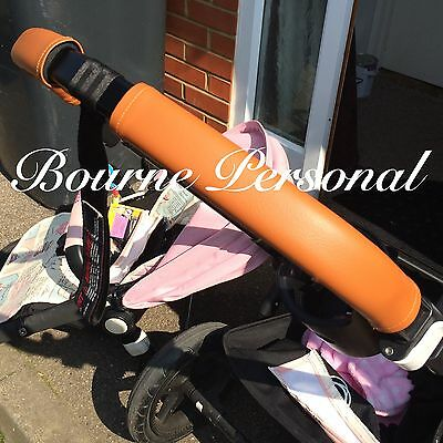 Bugaboo Cam Cameleon 1 - 2 Or 3 Zip On Handle Bar Covers In Faux Leather