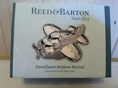 Reed and Barton Zoom Zoom Airplane Musical Baby Musical Toys Twinkle Twinkle