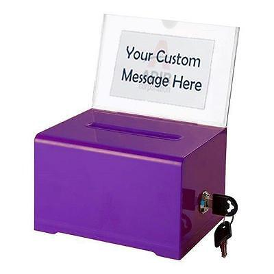Adir Acrylic Suggestion Box Ballot Box With Lock Multiple Colors