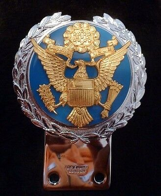 Vintage Jr Gaunt United States Seal Car Badge