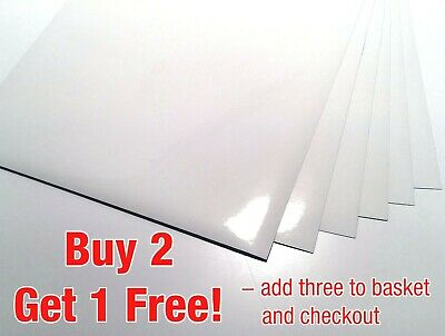 50 x A4 White GLOSSY Self Adhesive Sticky Sticker Craft Label Printing Paper