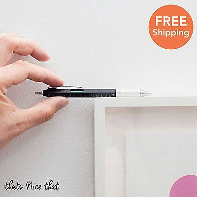 4 In 1 Pen Multi Tool Screwdriver Level Ruler & Diy Gadget Fathers Day Gift Fun