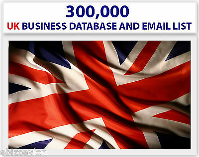 Buy 300 000(300K) Active Uk Email Addresses And Database For Email Marketing.