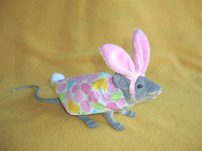 Easter Bunny Costume with Large Pink Ears for Rat from Petrats