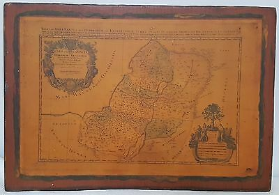 Antique Map 1696 Middle-East Holy Land Of Israel And Judea By Jaillot Vintage