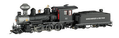 Bachmann 28906 On30 Greenbrier & Big Run Lumber Co. 4-6-0, Steel Cab w/DCC #32