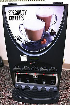 """BUNN IMIX-5"" COMMERCIAL H.D. (nsf) 5 FLAVORS CAPPUCCINO/HOT BEVERAGE DISPENSER"