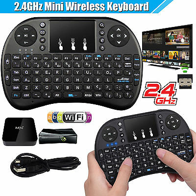 2.4Ghz Wireless Air Keyboard Mouse Qwerty Remote Touchpad XBMC Android TV BOX PC