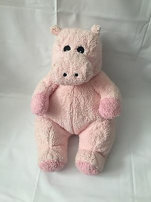 Ty Hippobaby 2000 Rattle Baby Pink Hippo Soft Plush Stuffed Animal