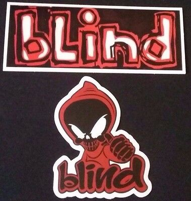 "2 Pack BLIND SKATEBOARD STICKER Big 5"" inch and 3"""