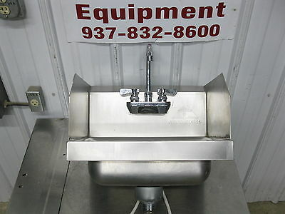 """Advance Tabco 17 1/2"""" Stainless Steel 1 Bowl Wall Mount Hand Sink w/ Side Splash"""