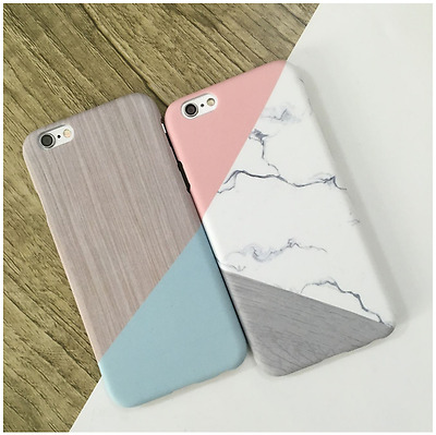 Granite Marble Contrast Color PC Hard Cover Case for iPhone 6/6s Plus/7/7 Plus