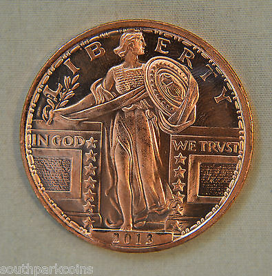 STANDING LIBERTY 1oz .999 FINE COPPER ROUND