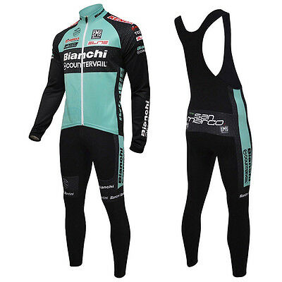 "Cycling Entretiempo ""NO Fleece"" Long Bianchi 3 Jerseys Bike Maglie Ropa Ciclismo"