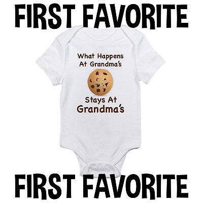 Grandma Baby Onesie Bodysuit Shirt Shower Gift Grandmother Infant Unisex Gerber