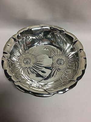 "Wallace Poppy 123 Sterling Silver Round Vegetable Bowl 10"" No Mono"