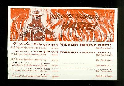 1950s Lot of 6 Smokey The Bear Unused Ink Blotters