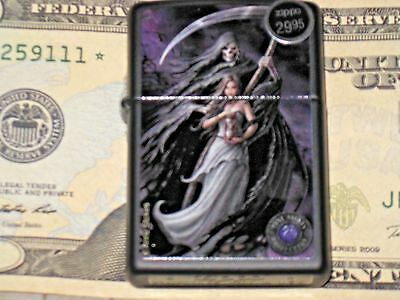 A New ZIPPO Windproof Flame Lighter Anne Stokes Collection # 3 Grim Reaper Maid