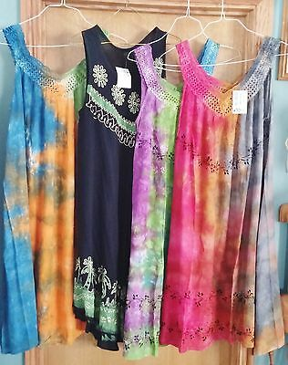 Lot Of Four Boho/hippie Summer Dresses Free Size U.s. Seller Wear/sell