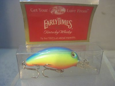 Early Times Whiskey RATTLE CRANK BAIT Fishing Lure